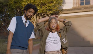 Lakeith Stanfield and Tessa Thompson in Sorry to Bother You (Sundance Institute)