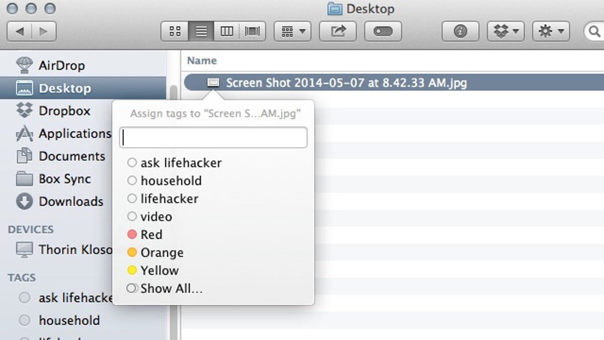 Quickly Add Tags in Finder with a Keyboard Shortcut