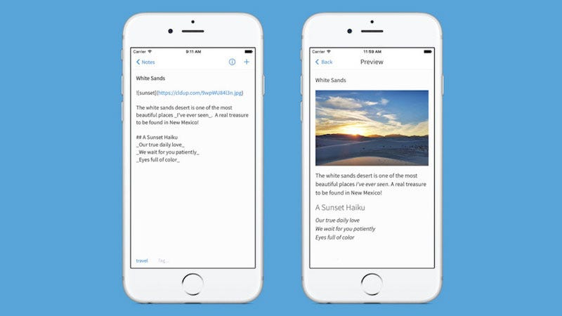 Illustration for article titled Simplenote for iPhone Adds Support for Markdown