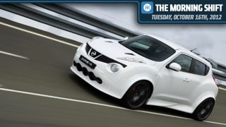 Illustration for article titled Nissan Delivers The First Juke-R, Volvo Is Dumping The C30, And Fiat 500 Is Hitting The Track