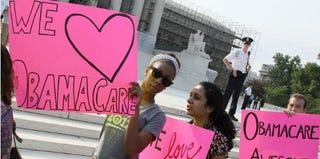 Supporters of the Affordable Care Act in June 2012 (Mark Wilson/Getty Images)
