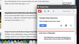 Illustration for article titled Take Notes With the Google Keep Extension that Google Forgot to Make