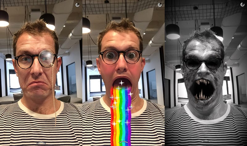 Illustration for article titled Snapchat's New Lenses Feature Is Utterly Horrifying