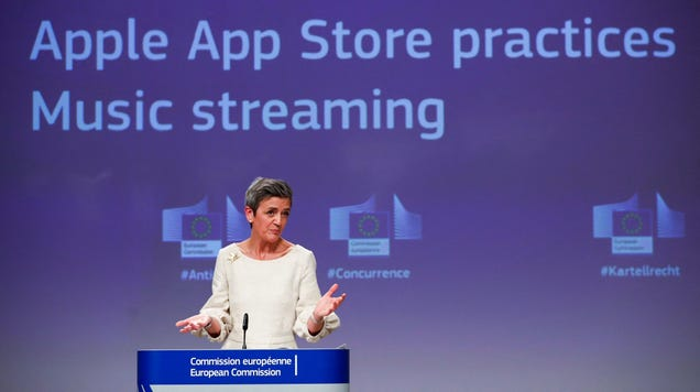 EU Charges Apple With Antitrust Violations in Spotify Case