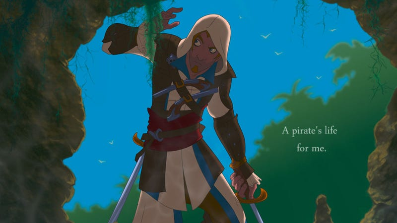 Illustration for article titled If Assassin's Creed IV Was A Disney Cartoon...