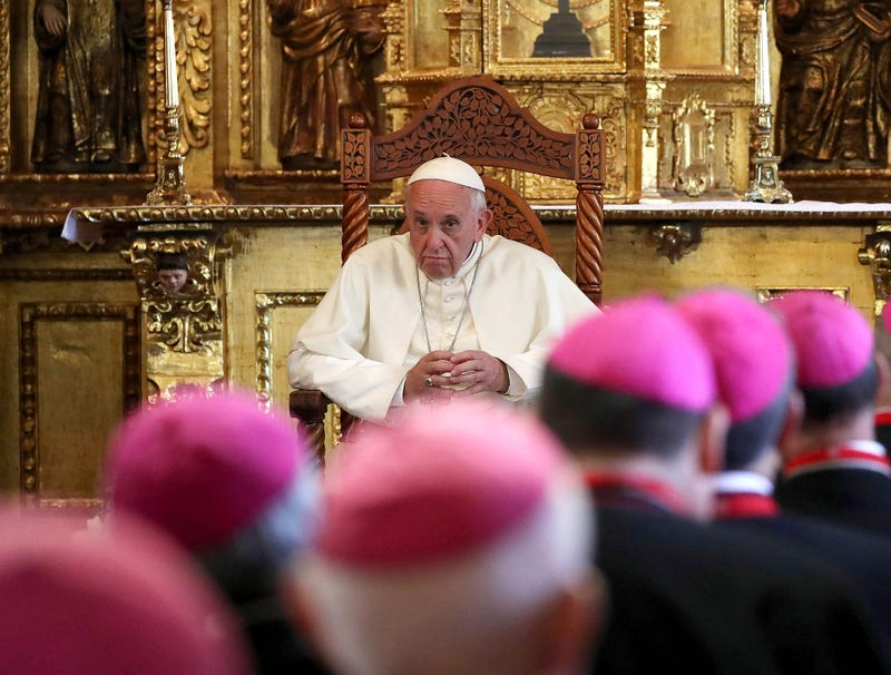 Illustration for article titled Pope Starting To Suspect Bishops Getting Huge Erections During Meeting On Child Sexual Abuse Might Be Pedophiles