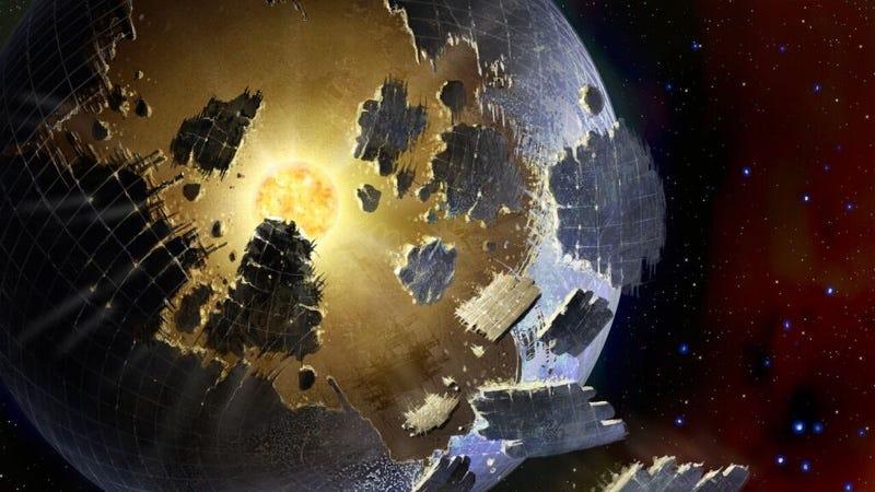 Imagen conceptual de una esfera de Dyson. Ilustración: Danielle Futselaar