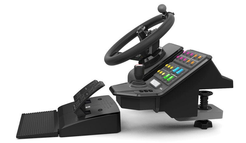 Illustration for article titled With This Insane Tractor Controller, Anyone Can Be a Virtual Farmer