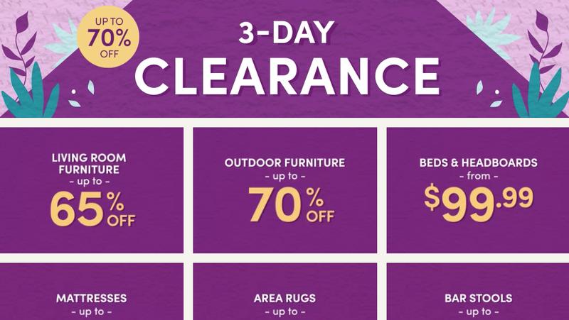 3-Day Clearance Sale | Wayfair