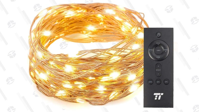 TaoTronics 33' 100 LED String Lights | $6 | Amazon | Promo code D6BJOPRMTaoTronics 66' 200 LED String Lights | $8 | Amazon | Promo code 6DE797RE