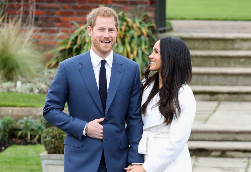 Prince Harry and Meghan Markle  announce their engagement at the Sunken Gardens at Kensington Palace in London on Nov. 27, 2017. (Chris Jackson/Getty Images)