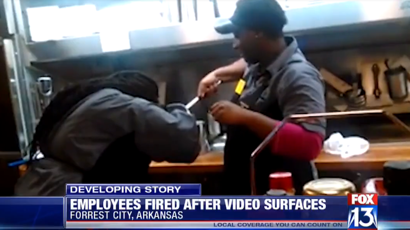 Illustration for article titled Waffle House Employees Fired for Washing Hair in Kitchen