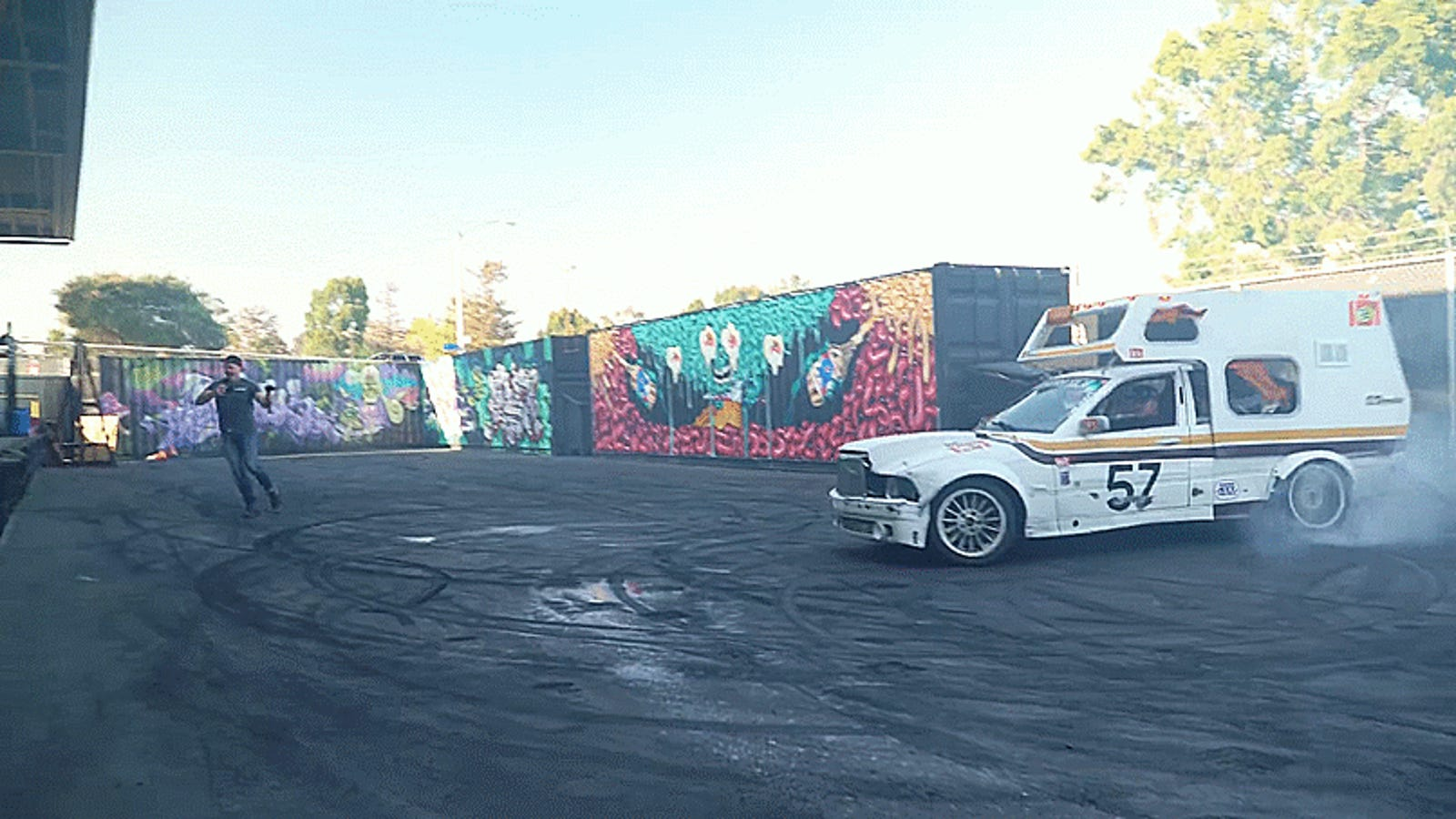 this janky bmw e36 camper van race car is the 24 hours of. Black Bedroom Furniture Sets. Home Design Ideas