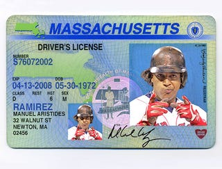 Illustration for article titled Manny Being Manny During Massachusetts State Driver's License Photo