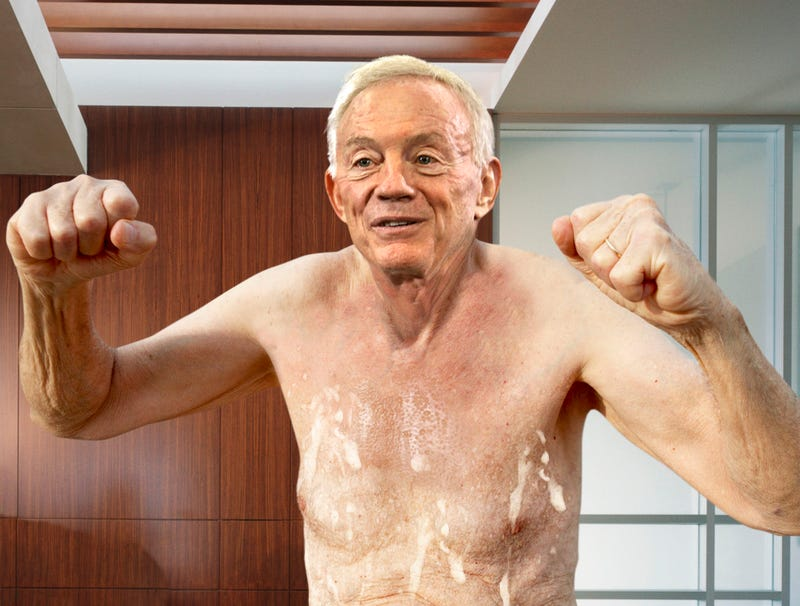 Illustration for article titled NBC Camera Fails To Cut Away From Owners Booth In Time As Nude Jerry Jones Leaps Up From Hot Tub Following Touchdown