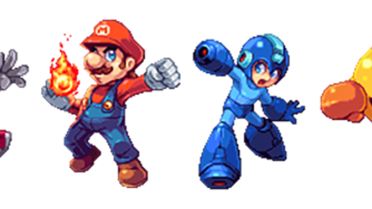 Smash Bros Characters Turned Into Gorgeous Pixel Art