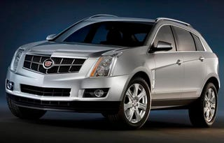 Illustration for article titled 2010 Cadillac SRX Continues Its Photographic Burlesque Show