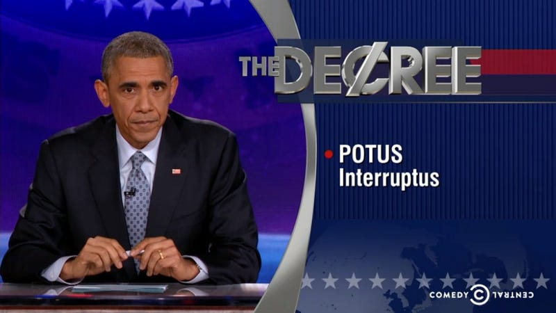 Illustration for article titled Obama Takes Control of The Colbert Report, Delivers 'The Word'