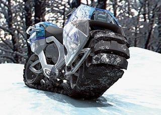 Illustration for article titled Hyanide Snow Bike Mobile Concept