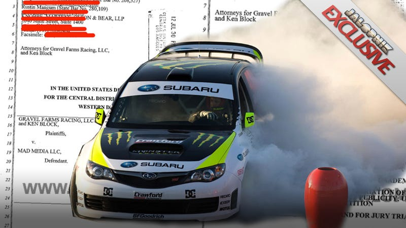 Illustration for article titled Ken Block Suing Co-Producer Of First Three Gymkhana Videos