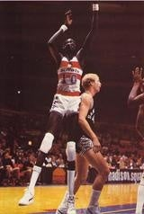 """Illustration for article titled Did Manute Bol Coin The Phrase """"My Bad""""?"""