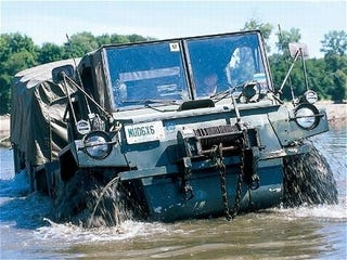 Illustration for article titled Tools For A Post-Apocalyptic World: Gama Goat Amphibious Truck