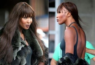 Illustration for article titled Naomi Campbell Wears Fur, Goes Bald; Tyra Banks Developing New Online Project