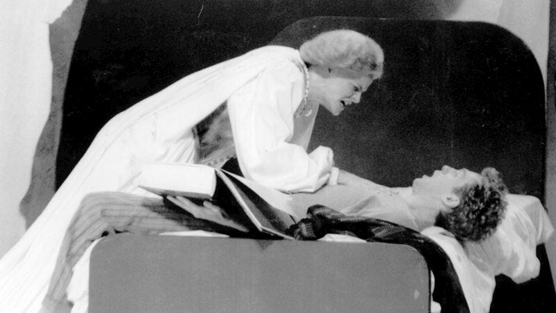 Ellen McLaughlin and Stephen Spinella in Angels In America, 1992 (Photo: Con Keyes/LA Times via Getty Images)