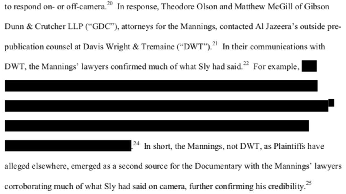 Peyton Manning Denies Claim In Court Filings That Peyton