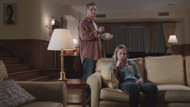 Illustration for article titled HBO Go's new ads capture the awkwardness of watching HBO with your family