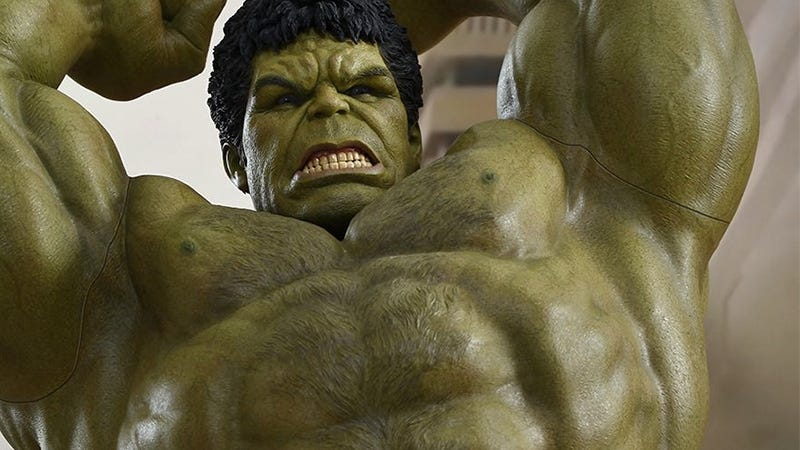 Illustration for article titled This New 17-Inch Hulk Figure Comes With Next-Level Chest Hair Detailing