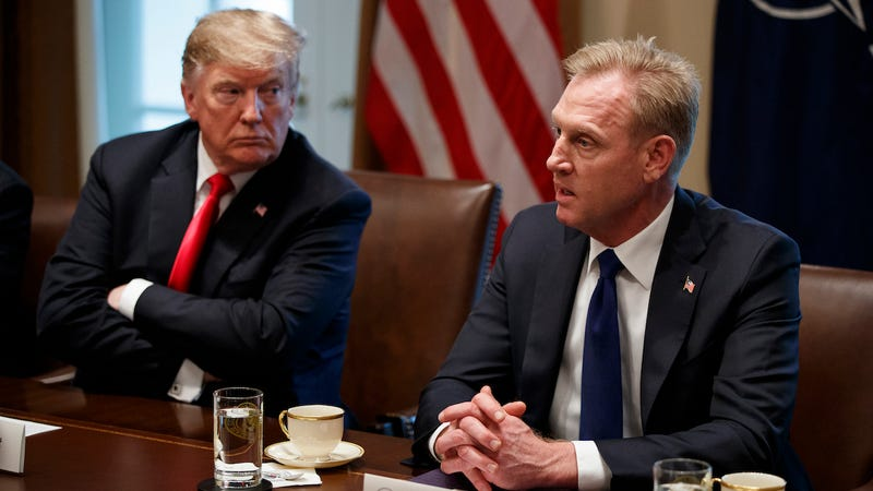 Acting Defense Secretary Patrick Shanahan meets with President Donald Trump and leaders of NATO in Washington on April 2, 2019