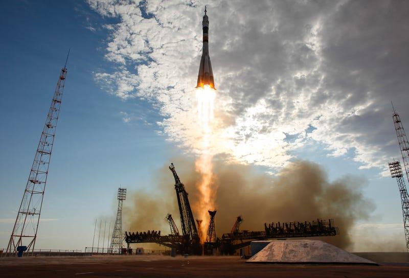 A previous Soyuz launch, carrying Expedition 32 / NASA,Carla Cioffi