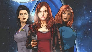 Illustration for article titled A first look at the Star Trek/Doctor Who crossover comic!