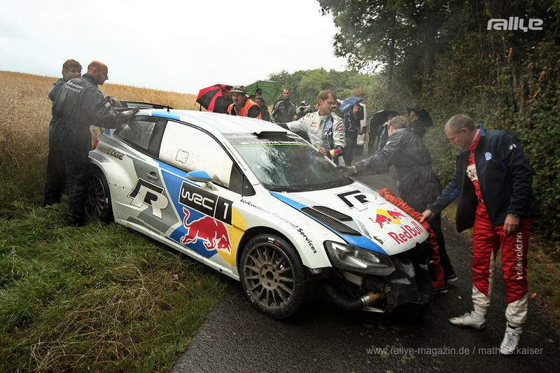Illustration for article titled VW Polo WRC vs. Deer [Graphic image warning]