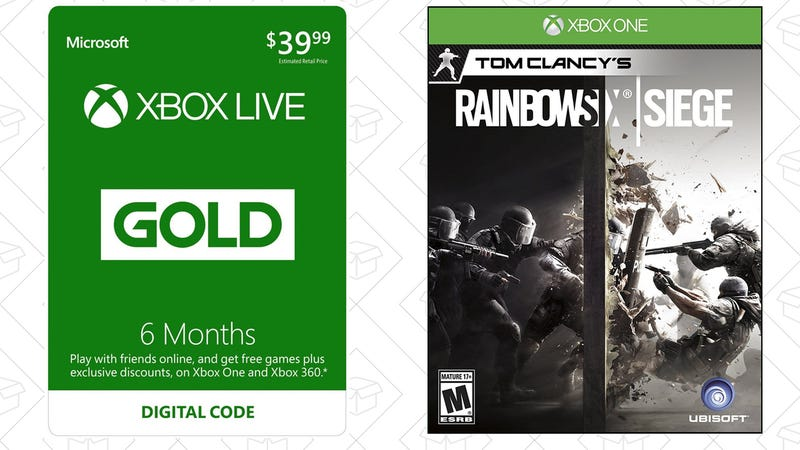 Six Months Xbox Live Gold + Rainbow Six Siege, $40