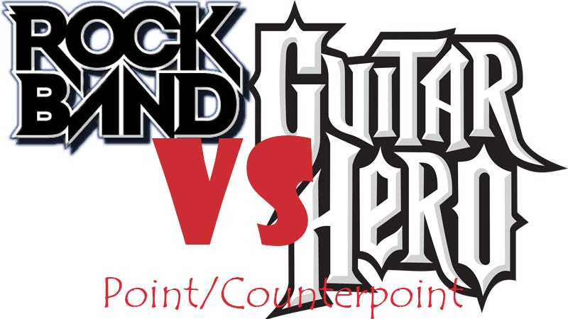 Illustration for article titled Point/Counterpoint: Guitar Hero > Rock Band