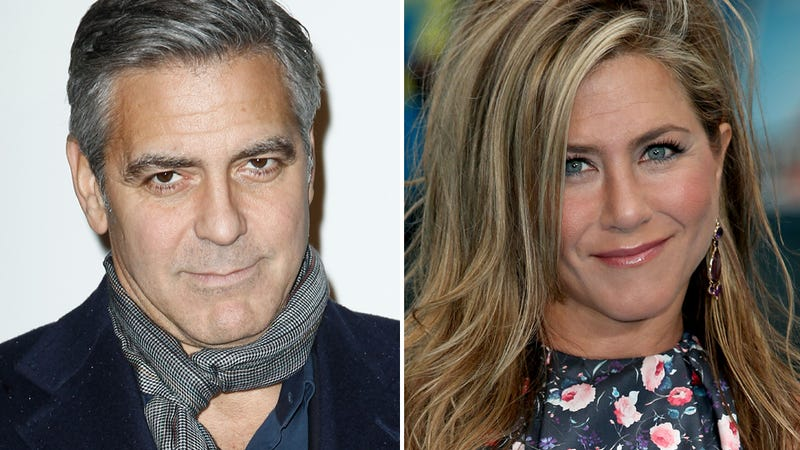 Illustration for article titled George Clooney vs. Jennifer Aniston: A Tale of Two Singles