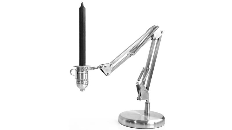 Illustration for article titled Is This Articulating Candle Holder the Grandfather of the Famous Pixar Desk Lamp?