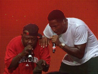 Phife Dawg and Q-Tip performing at Rock the Bells in 2010 in Columbia, Md.Yesha Callahan