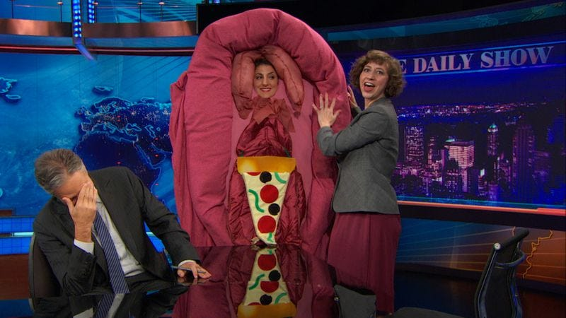 "Illustration for article titled Get involved, Internet: The Daily Show is auctioning off its ""Sexy Vagina"" costume for charity"