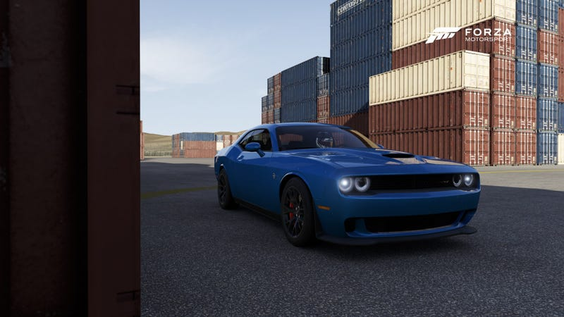 Illustration for article titled I am now the proud owner of a B5 Blue Hellcat (In Forza)