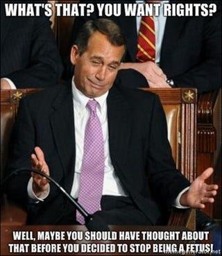 Illustration for article titled John Boehner's Woman Problem Makes For Delightful Meme