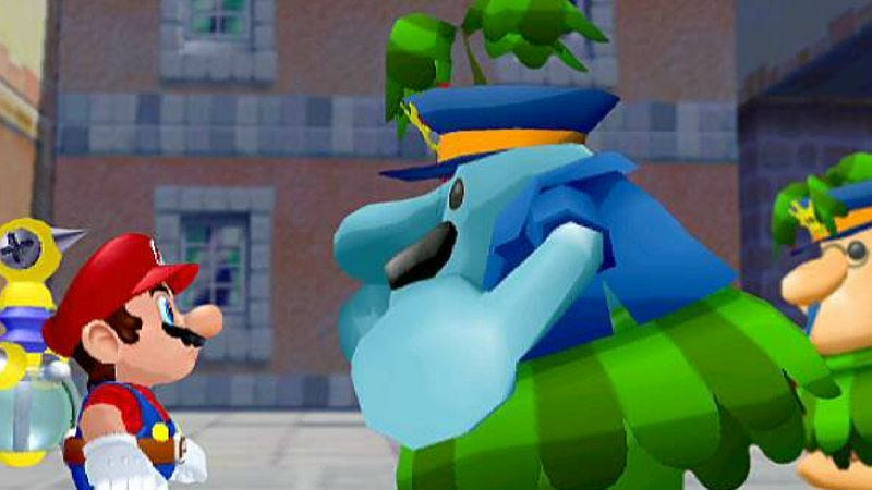 super mario sunshine s weirdness was right at home on the gamecube