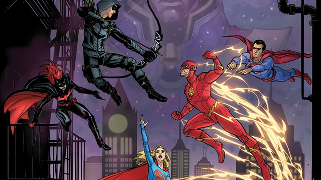 The DC/CW Elseworlds Crossover Gets the Mashup Comic Cover It Deserves