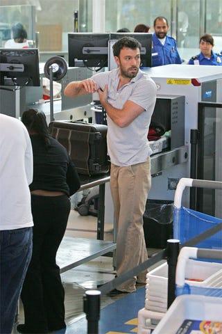 Illustration for article titled Ben Affleck Frisks Self At Airport Security Station