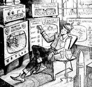 Illustration for article titled Push Button Farm of the Year 2000 (1958)