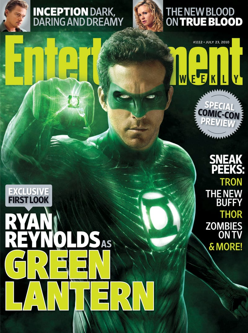 Illustration for article titled Ryan Reynolds' Green Lantern costume revealed!