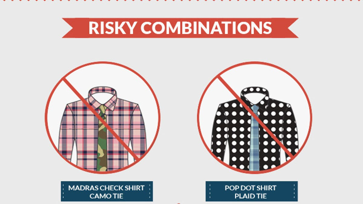 This Cheat Sheet Teaches You How To Match Shirt And Tie Patterns