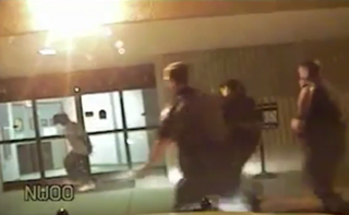 Video footage of Linwood Lambert Jr. and the Virginia police who apprehended him. YouTube